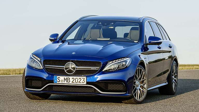 Frontansicht des Mercedes-AMG C 63 T-Modell