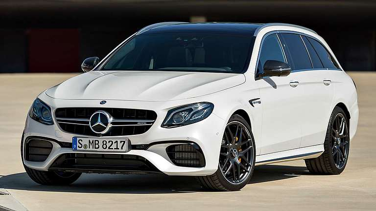 Frontansicht des Mercedes-AMG E 63 T-Modell