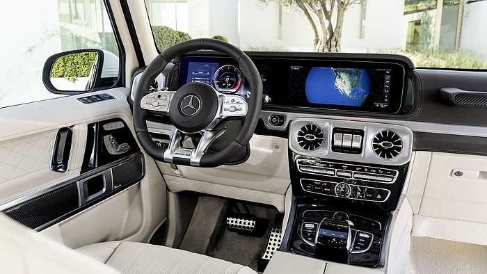 Der Mercedes-AMG G 63 mit Widescreen-Cockpit