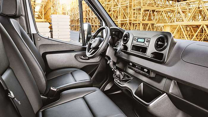 Das Interieur des Mercedes-Benz Sprinter