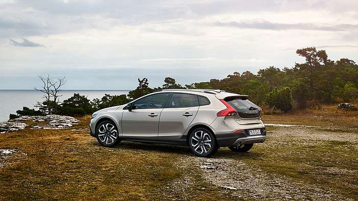 Heckansicht des Volvo V40 Cross Country