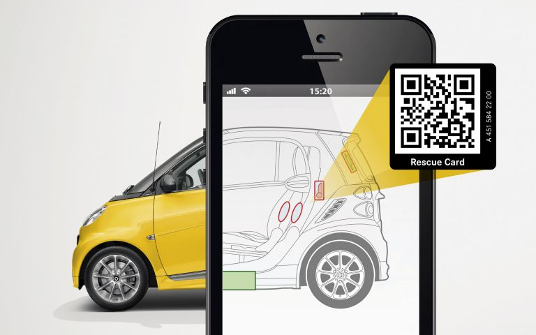 Der smart Rettungs-Sticker mit QR-Code