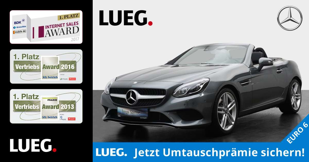 lueg gebrauchtwagen mercedes benz slc 200 sport paket. Black Bedroom Furniture Sets. Home Design Ideas