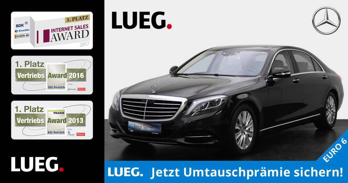 lueg gebrauchtwagen mercedes benz s 500 4m l stndhzg comand ahk. Black Bedroom Furniture Sets. Home Design Ideas