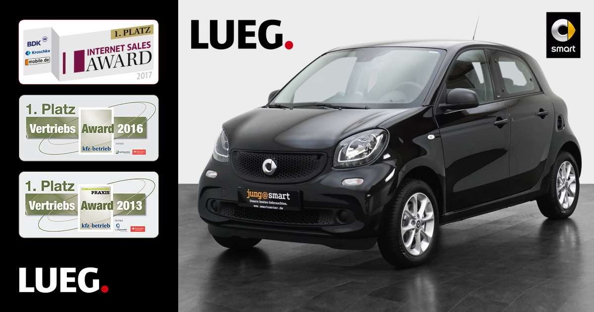 lueg gebrauchtwagen smart forfour passion 52 kw. Black Bedroom Furniture Sets. Home Design Ideas